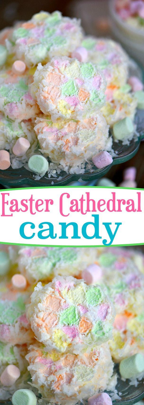Esta receta de Pascua Catedral de Pascua requiere sólo tres ingredientes y es tan bonito!  ¡Grande para Pascua, fiestas de bienvenida al bebé, y otros partidos!  A los niños les encanta ayudar con esta receta fácil!  // Mom On Timeout
