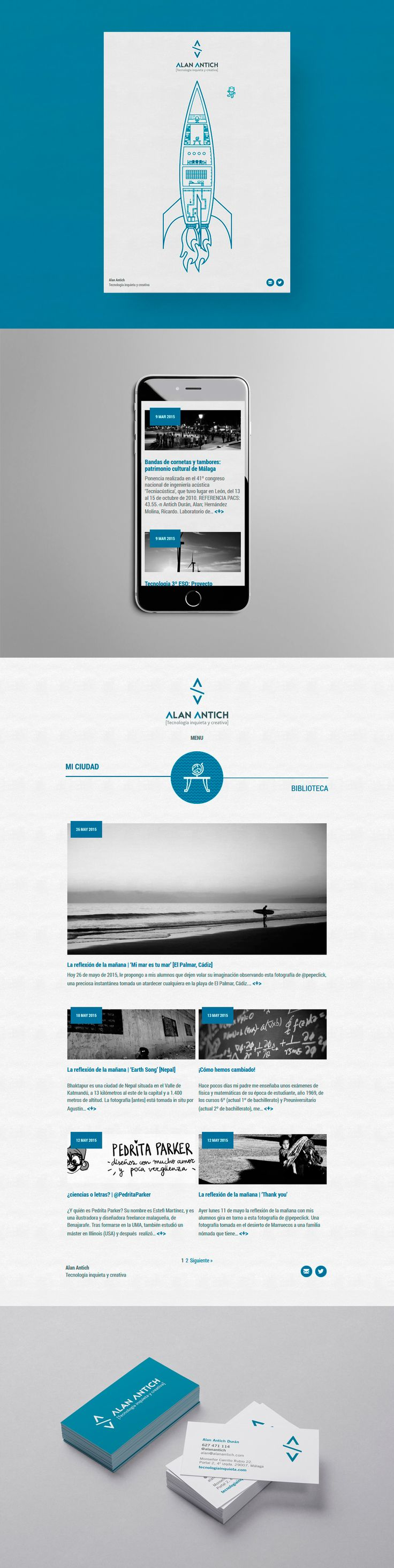 Alan Antich es un tipo inquieto al que le gusta hacer preguntas y encontrar respuestas. Ésta es la web y la imagen de marca que creamos para su proyecto.