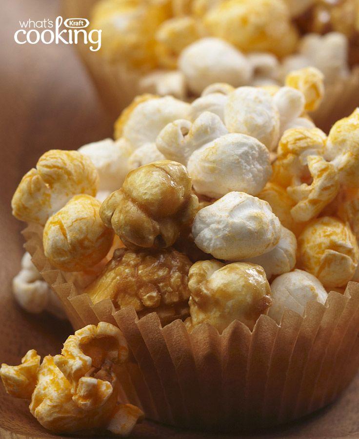 Cheese and Caramel Popcorn #recipe