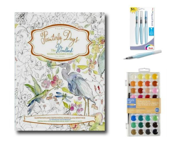 Beginner Watercolor Painting With Painterly Days Get Even More Creative These Adult Coloring Books