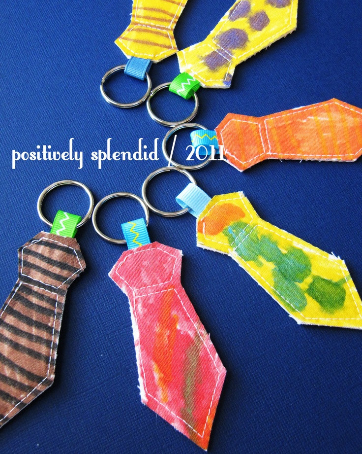 necktie crafts | Necktie Key Ring Tutorial | Positively Splendid {Crafts, Sewing ...