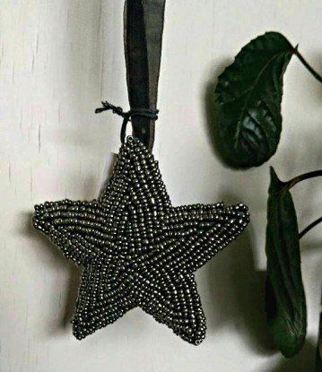 Mørkegrå Perle Stjerne