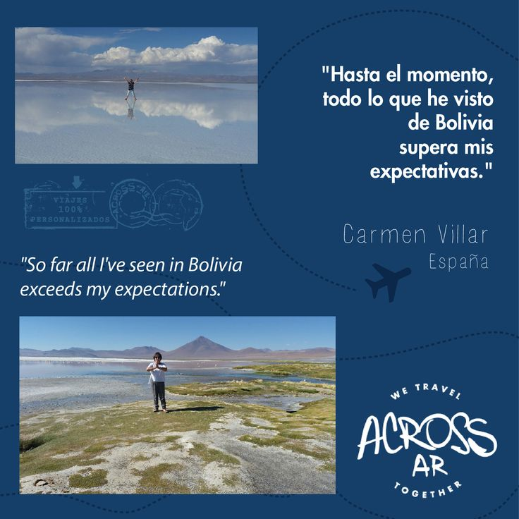 We #travel & #explore #places, #share & #live #experiences. #Southamerica #Bolivia #ThankU Carmen! #Great #trip! | #Viajamos #exploramos #compartimos y #vivimos #lugares y #experiencias en #Sudamerica. #Gracias Carmen!