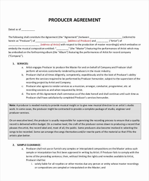 Music Production Contract Template Awesome 10 Music Contract Samples Templates Pdf Word Google In 2020 Contract Template Rental Agreement Templates Contract