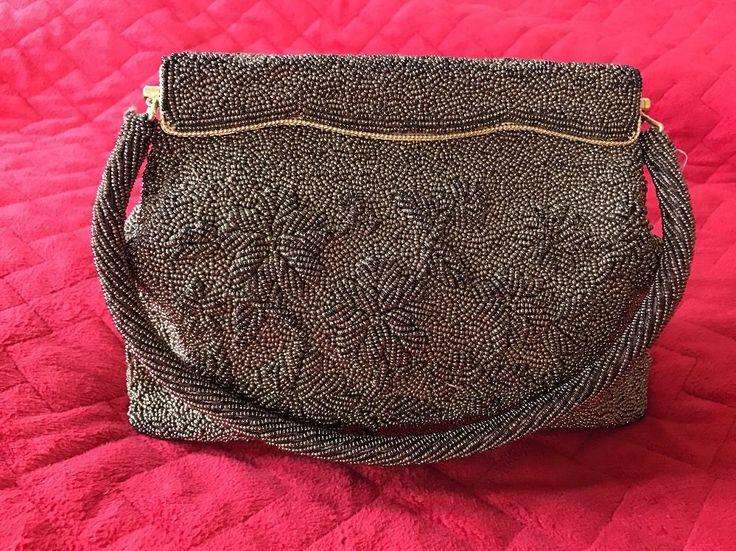 Vintage 1950  Hand Beaded Made In Hong Kong  Evening Bag #Handmade #Purse