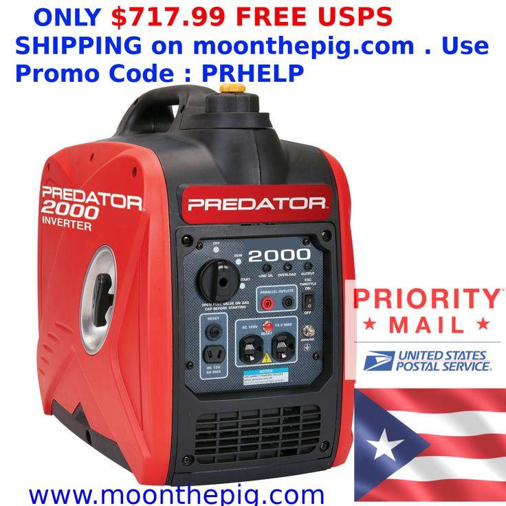 Predator 2000 Watt Generator Inverter Quiet Small EnvÃo Gratis a Puerto Rico