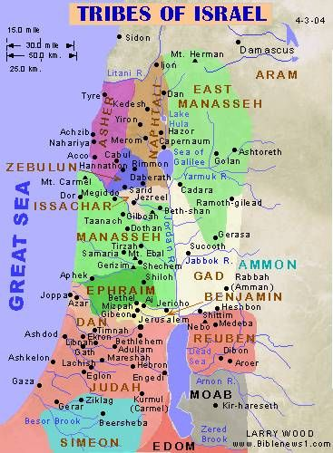 Land allotment of the 12 tribes