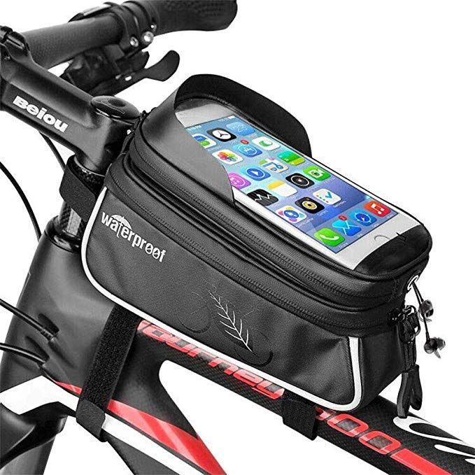 Waterproof Bicycle Front Frame Bag Top Tube Handlebar Pannier Pouch Phone Bag