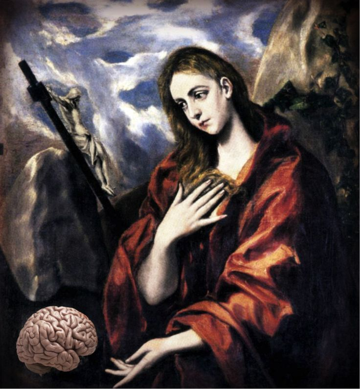 This painting is of Mary Magdalene by El Greco. She's originally gazing at a skull, so I thought she wouldn't mind if I replaced the skull with a brain.  ***  The free ebook is available atwww.Magdalitha.com. No fuss access, no sign up required. Just click on the image and download.