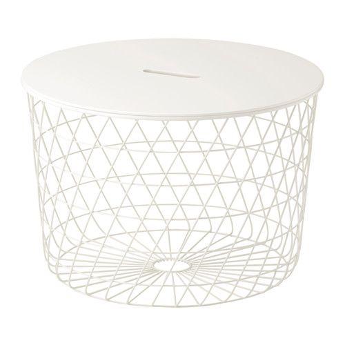 KVISTBRO Storage table, white white 61 cm