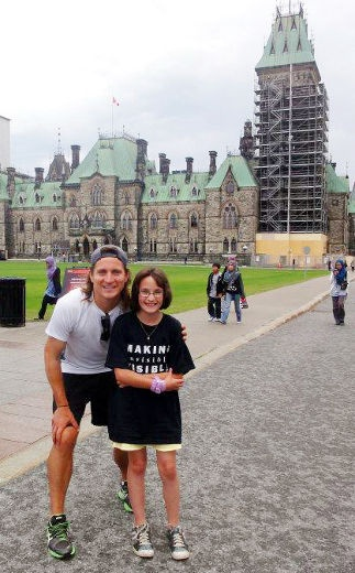 June 27th - Sarnia This Week   RAISING AWARENESS  Troy Adams of Watford met with supporters on Parliament Hill recently. Adams was in Watford yesterday (Tuesday.)