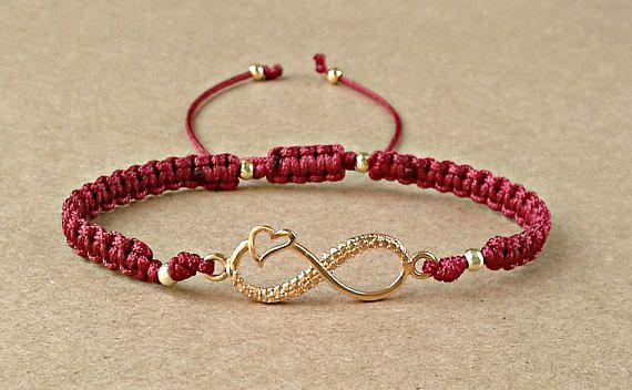 Valentines Day Bracelet Infinity Heart Bracelet Friendship
