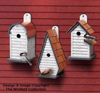 Chickadee/Wren House Trio Wood Pattern