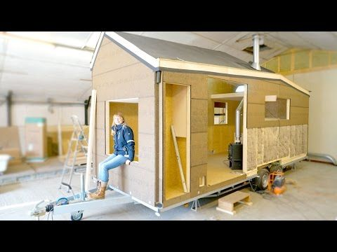 Building a Modern Tiny House for Off-the-grid Living (Eco-friendly) - YouTube