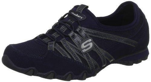 Oferta: 54.95€ Dto: -42%. Comprar Ofertas de Skechers BikersHot-Ticket 21159 NVY - Zapatillas de cuero para mujer, color azul, talla 42 barato. ¡Mira las ofertas!