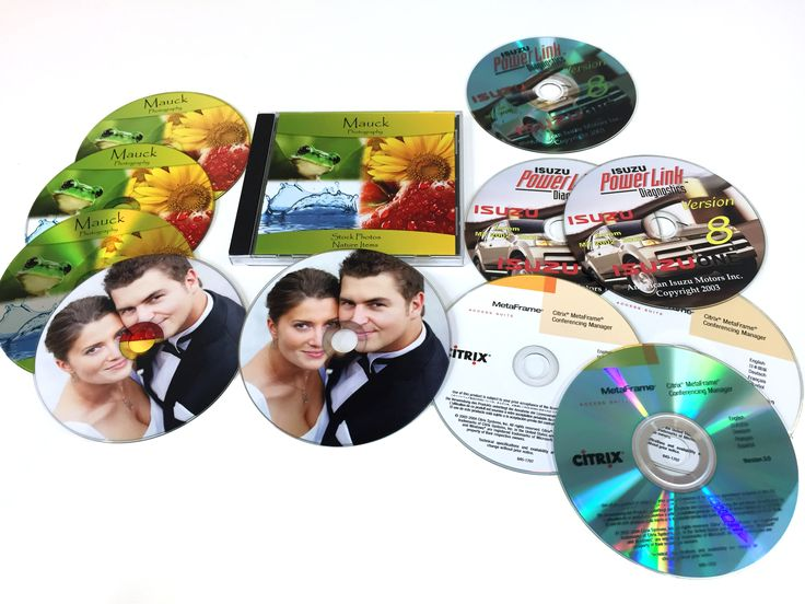 UV Printing - CDs printed with UV inks. LogoJET Printers - www.logojet.com.