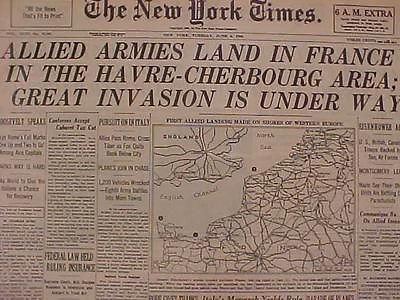 d-day newspaper headlines