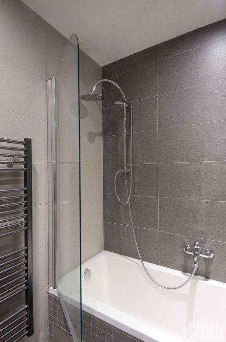 Moderní koupelny inspirace - Cihlový byt Praha 9 | Favi.cz