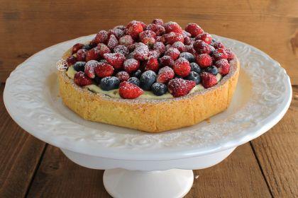 Ricetta Crostata con crema e frutti di bosco senza glutine