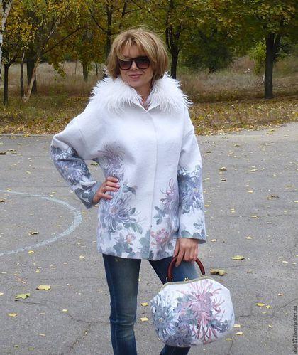 Пиджаки, жакеты ручной работы. Ярмарка Мастеров - ручная работа. Купить Жакет Оливия 2 -войлок. Handmade. Белый