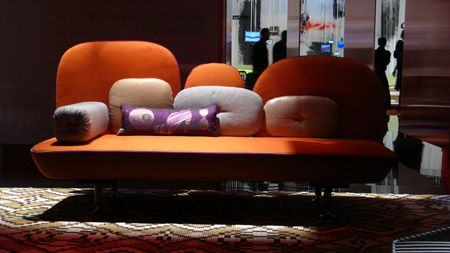 Anglo-Indian designers Doshi Levien presented a new divan for Moroso at the Milan furniture fair, which ended yesterday.