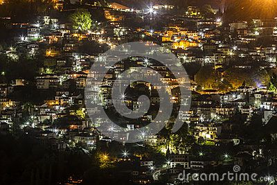View of the mountainous village of Metsovon, in Ioannina prefecture, in Epirus region, northern Greece.