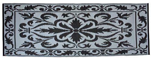 Esschert Design BL042 Balcony Carpet Blue/White