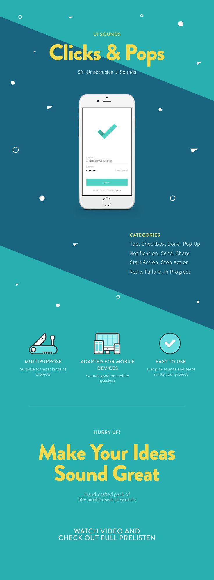 Clicks & Pops UI Sounds – Ui kit by Appsounds