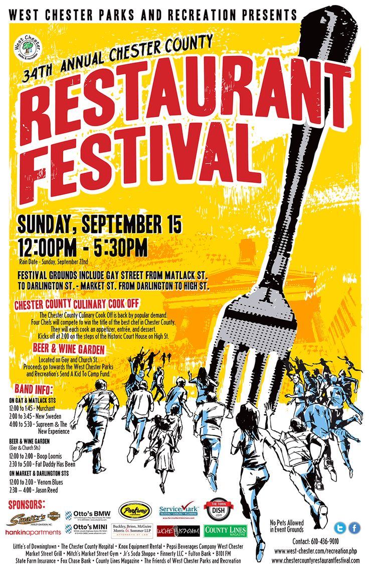 The chester county restaurant festival brings tons of
