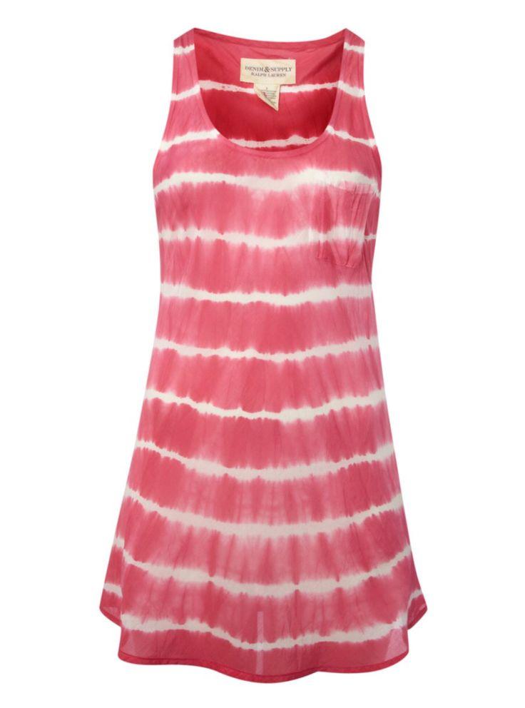 Demin & Supply Ralph Lauren Sleeveless Tie Dye Vest Tank Top