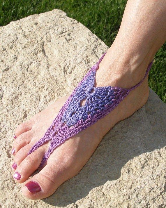 Barefoot+Sandals+Crochet+Pattern+Free | barefoot sandal patterns