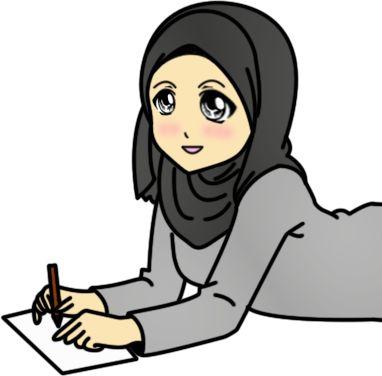 Fizgraphic Design & Printing: Freebies Doodle Muslimah Menulis