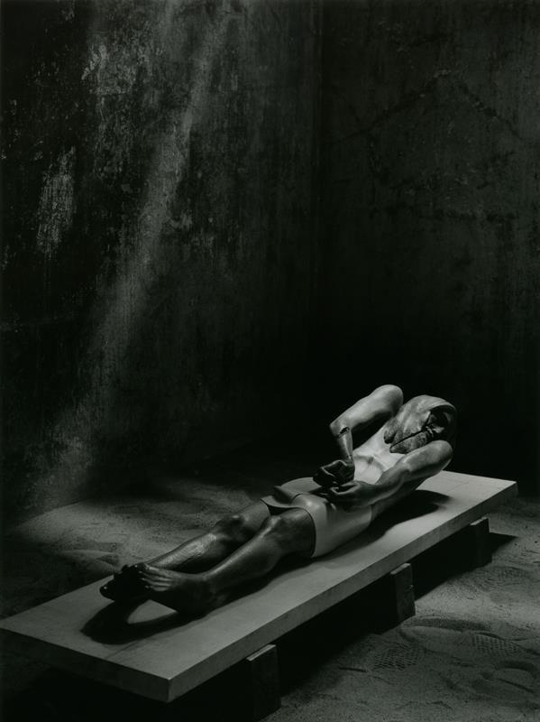 jerzy fober, złożenie do grobu, 1984, drewno polichromowane