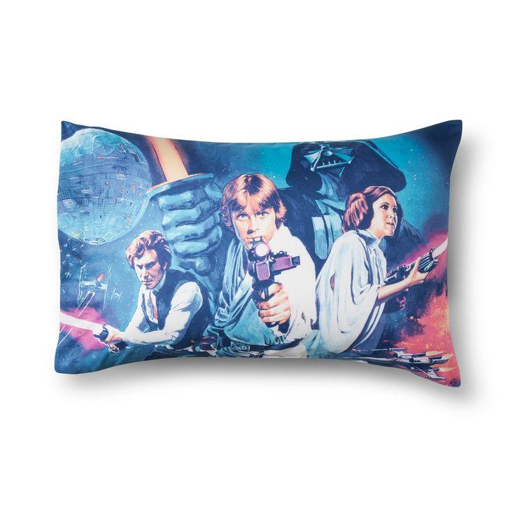 Star Wars Logo Blue & White Pillow Cases