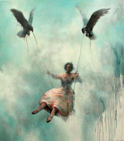 ILMAAN PIIRRETTY/DRAWN IN THE AIR Acrylic and oil on canvas 180cm x 160cm 2013 samuliheimonen.com