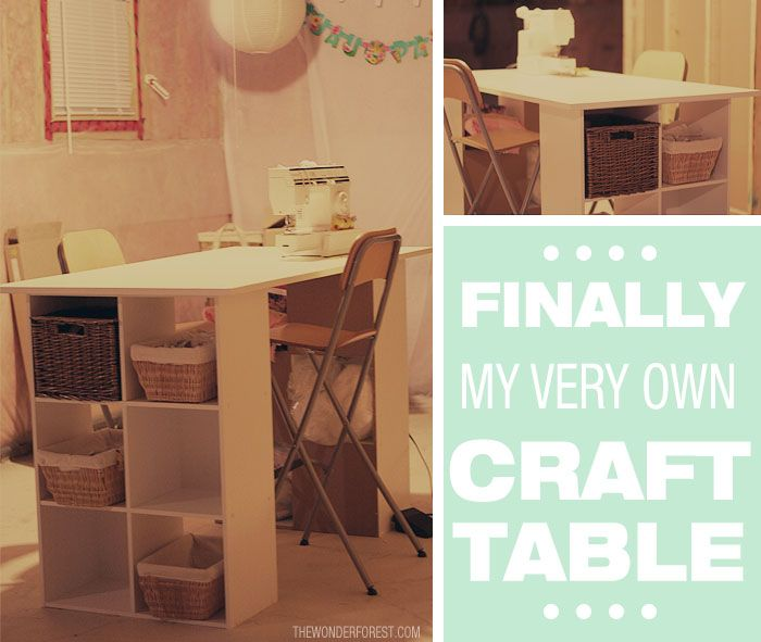 How To Make an Easy Craft Table with Storage! cost: about 130 bucks: Simple Crafts, Crafts Area, Diy Crafts, Crafts Rooms, Tables Diy, Easy Crafts, Crafts Tables, Dyi Crafts, Wonder Forests