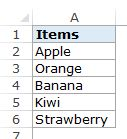 How to Create a Drop Down List in Excel - Data