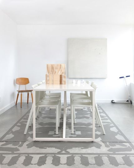Pavimenti dipinti come tappeti   Arredare casa