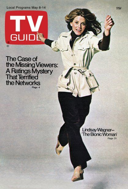TV Guide May 8, 1976 - Lindsay Wagner of The Bionic Woman.