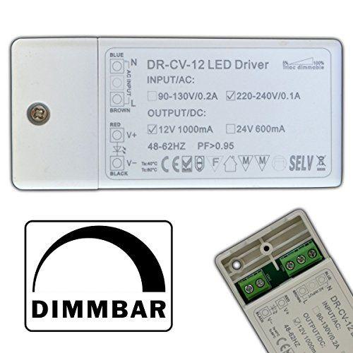 http://ift.tt/1Ih2DHn Dimmbarer LED Trafo 12V DC 1  12 Watt Netzteil dimmbar Treiber Transformator für Dimmer G4 MR16 GU5.3 @inilo#$