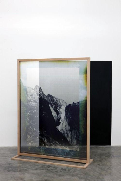 Cool frame Idea for large space. Elena Damiani - Fading Field No. 1 (2012)
