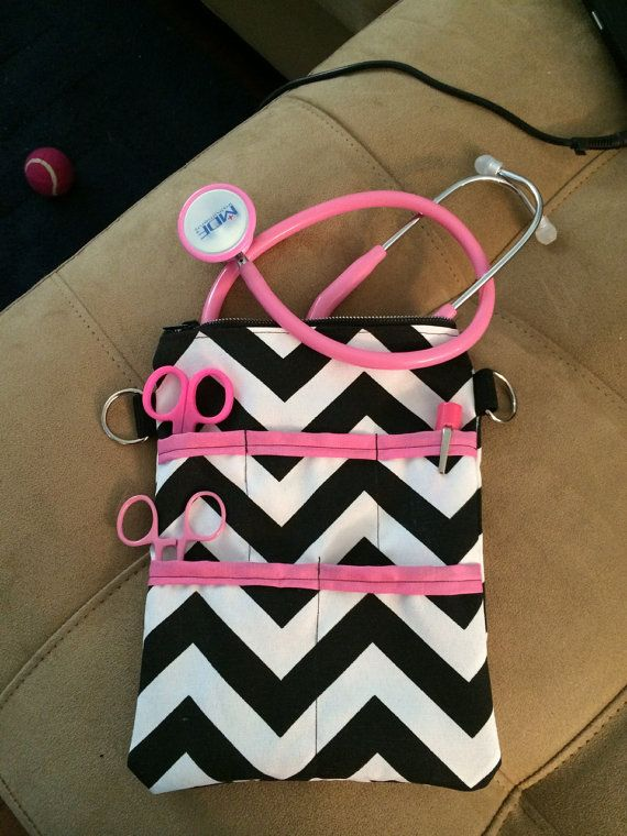 7.5x10in nurse supply bag holds stethoscope and by DsNurseBags, $25.00