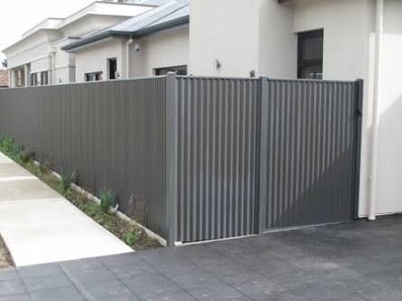 brick and colourbond fence - Google Search More