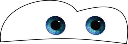 Lightening Mcqueen printable eyes save to desktop and print any size