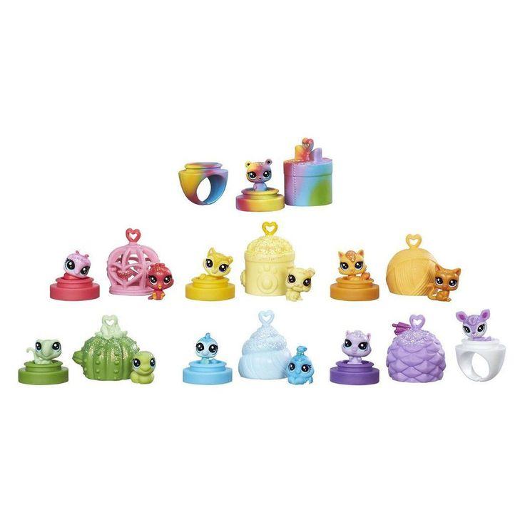 13 Mini figurines Littlest Petshop Rainbow