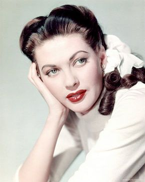 I adore Yvonne de Carlo's ringlet curls in this beautiful portrait.
