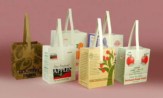 Can be made with natural or white kraft paper. Perfect for a market or orchard stand. Made in the USA.