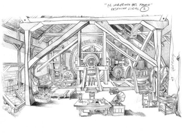 Scenic design sketch images galleries for Movie set design