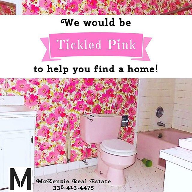 With a GREAT bathroom 😂🌸 #realestate #ncreal estate #localrealtors #wedoremodels #pinktoilet #wallpaper #justaskjenna - posted by McKenzie Real Estate of NC https://www.instagram.com/mckenzierealestateofnc - See more Real Estate photos from Local Realtors at https://LocalRealtors.com/stream