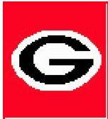 CitiUSA - Georgia Bulldogs Logo Crochet Afghan Graph Pattern DOWNLOAD, $5.95 (http://www.citiusa.com/georgia-bulldogs-logo-crochet-afghan-graph-pattern-download/)